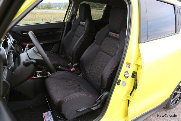 Suzuki Swift Sport Sitze vorn
