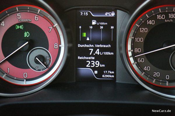Suzuki Swift Sport Verbrauch