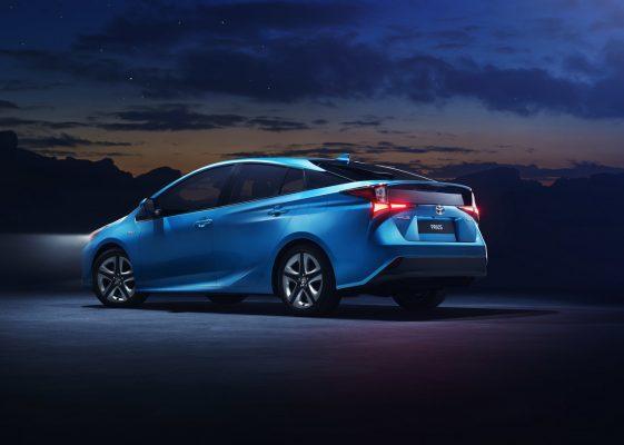 Seitenansicht des Toyota Prius