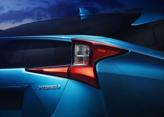 Heckansicht des Toyota Prius