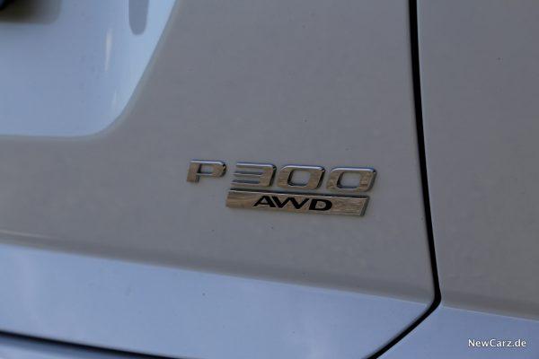 Jaguar E-Pace P300 Schriftzug