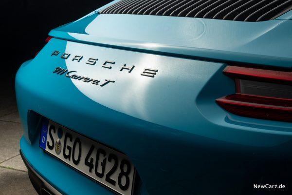 Porsche 911 Carrera T Schriftzug Heck