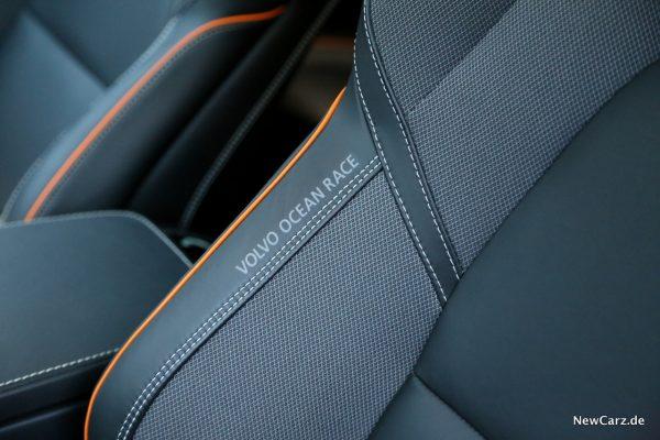 Volvo V90 Cross Country Ocean Race Sitze Schriftzug