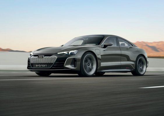 Frontansicht des Audi e-Tron GT Concept