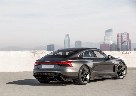 Heckansicht des Audi e-Tron GT Concept