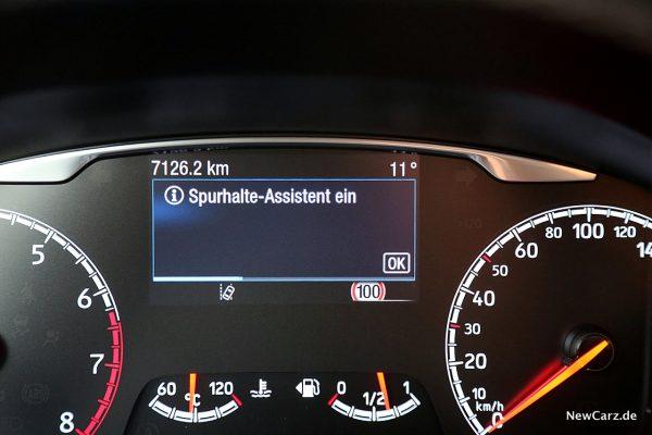Ford Fiesta ST Spurhalteassistent