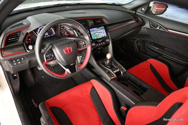 Honda Civic Type R Innenraum vorne