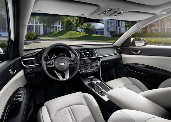 Interieur des Kia Optima Plug-in Hybrid