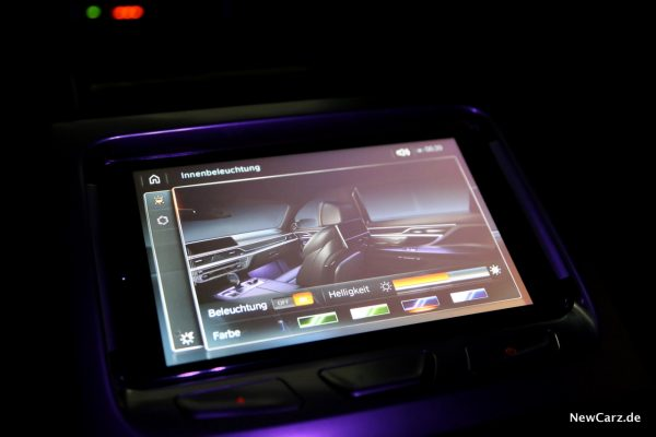 BMW Touch Command Innenbeleuchtung