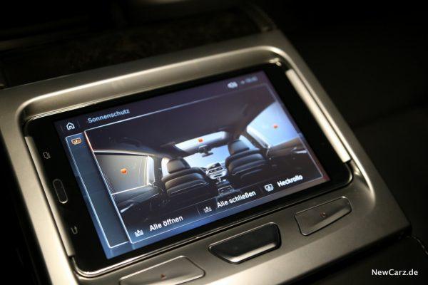 BMW Touch Command Sonnenschutz Rollos