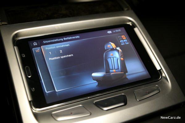 BMW Touch Command Sitzeinstellung