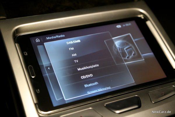 BMW Touch Command Medien Quellen