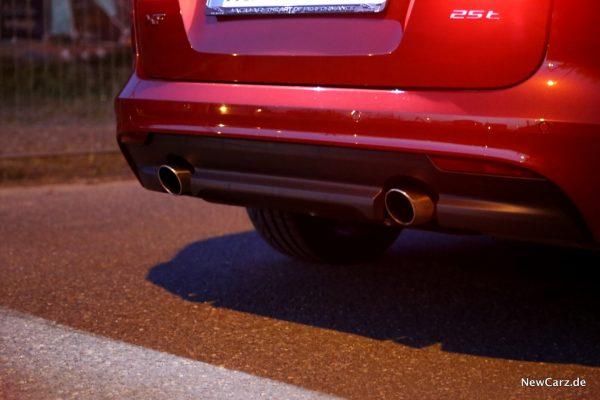 Jaguar XF Sportbrake Endrohre