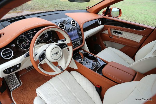 Bentley Bentayga V8 Interieur vorn