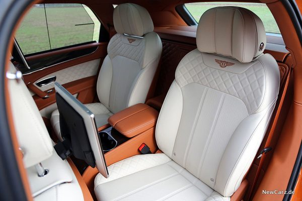 Bentley Bentayga V8 Einzelsitze Fond