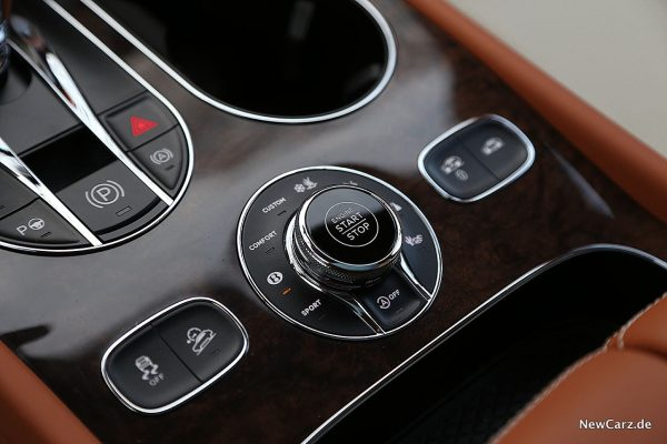 Bentley Bentayga V8 Fahrprogrammschalter