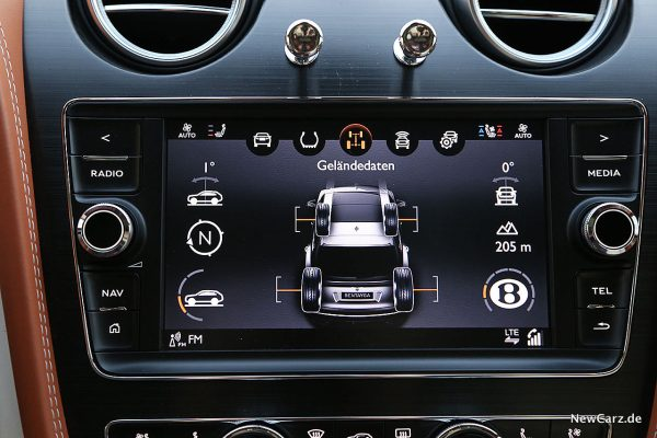 Bentley Bentayga V8 Geländedaten