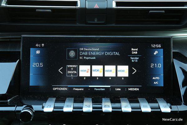 Peugeot 508 GT Bildschirm
