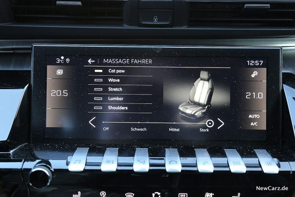 Peugeot 508 GT Massagefunktion