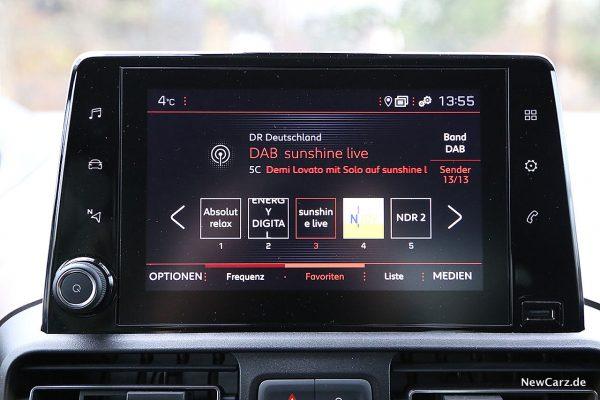 Peugeot Rifter DAB