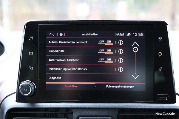 Peugeot Rifter Assistenzsysteme