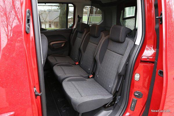 Peugeot Rifter Rücksitze