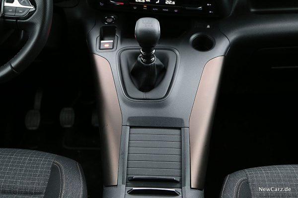 Peugeot Rifter Mittelkonsole