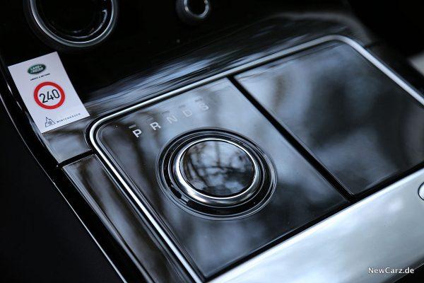 Range Rover Velar Drehknopf Automatik