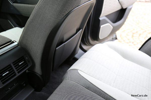 Range Rover Velar Beinfreiheit hinten