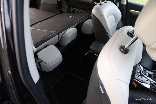 Renult Koleos Dauertest Beifahrersitz ganz nach vorn