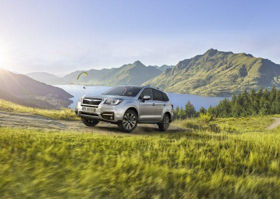 Der Subaru Forester im Gebirge