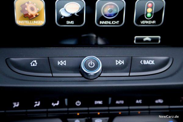 Chevrolet Camaro Cabriolet Tasten Touchscreen