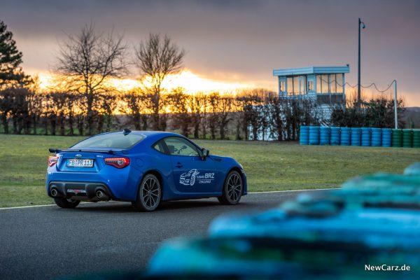 Subaru BRZ Challenge Sonnenuntergang