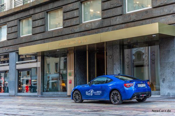 Subaru BRZ Challenge Armani Hotel