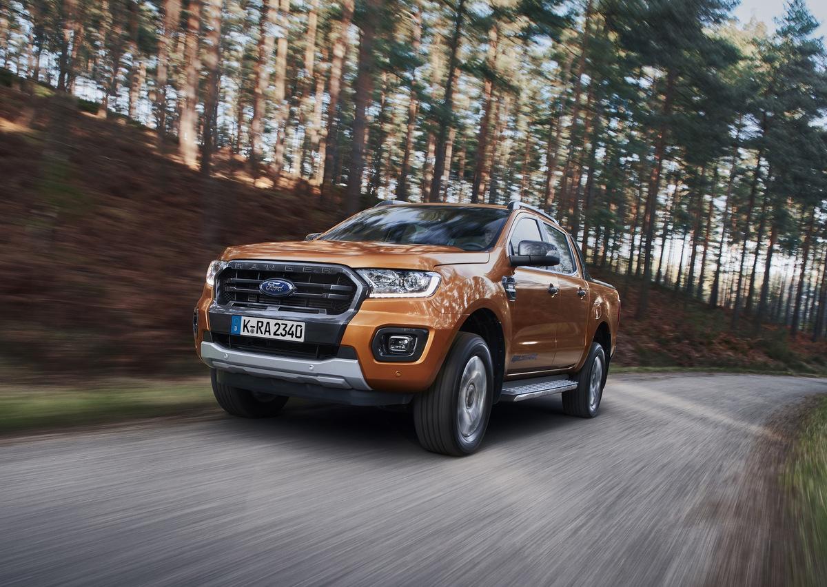 Frontansicht des Ford Ranger Wildtrak
