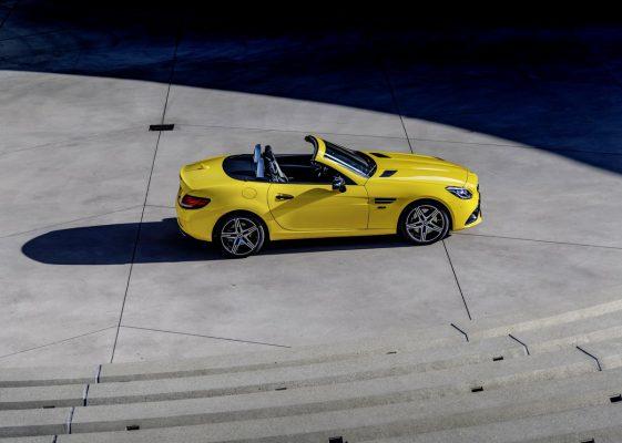 Seitenansicht des Mercedes-Benz SLC