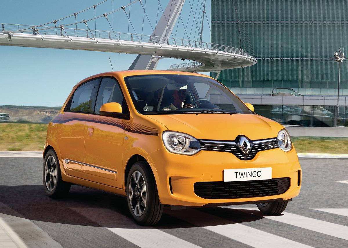 Frontansicht des Renault Twingo