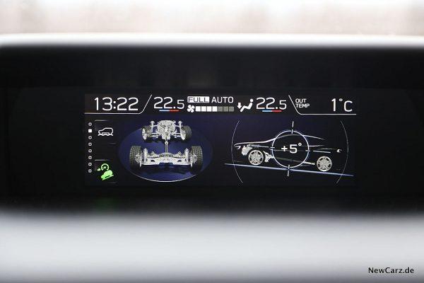 Subaru XV Ofroadmenü