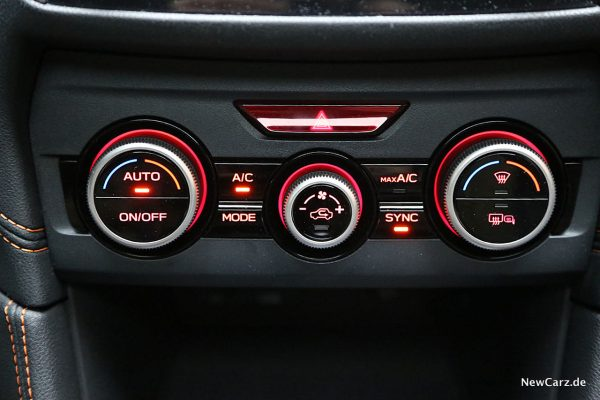 Subaru XV Klimaanlage