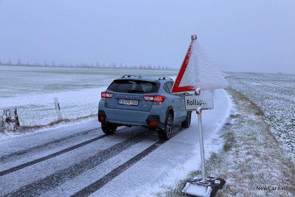 Subaru XV auf Schnee