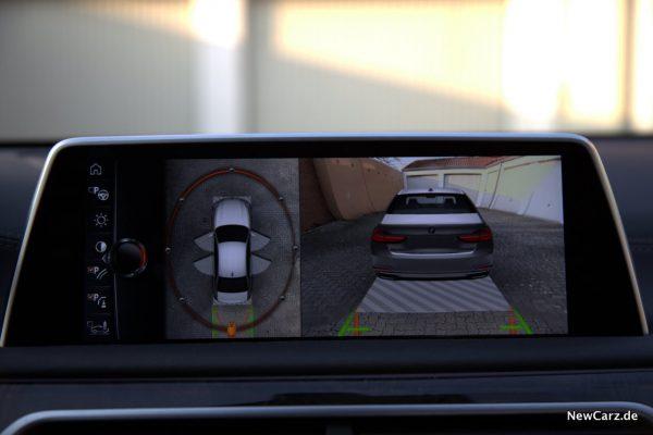 BMW 730d xDrive Heckansicht Kamera