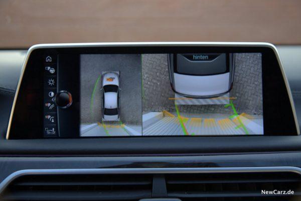 BMW 730d xDrive Rückfahrkamera Perspektive