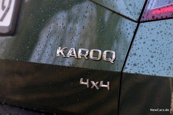 Skoda Karoq Scout 4x4 Schriftzug