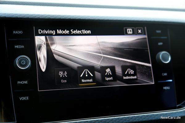 Volkswagen T-Cross Fahrprofilauswahl