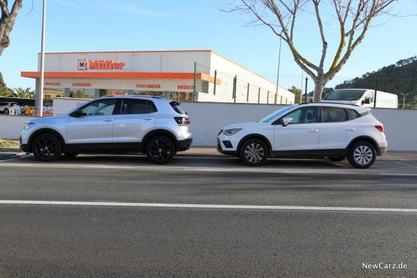 Volkswagen T-Cross Vergleich Arona