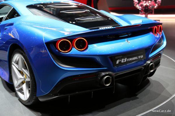 Ferrari F8 Tributo Heckbereich