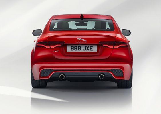 Heckansicht des Jaguar XE