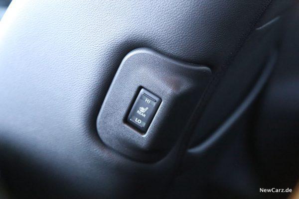 Nissan Leaf ZE1 Sitzheizung hinten