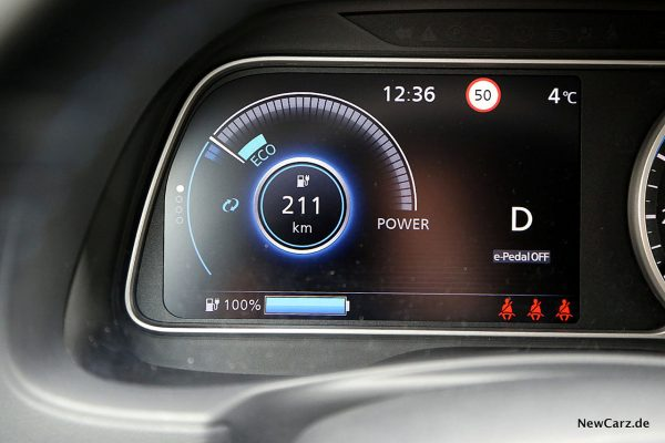 Nissan Leaf ZE1 Reichweite