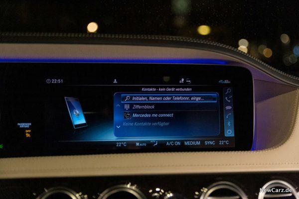 Mercedes-Benz S 560 L 4Matic Zentralbildschirm